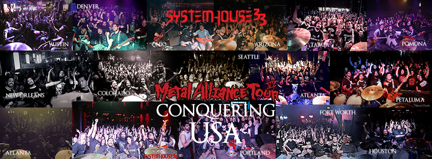 SystemHouse33 completes a successful Metal Alliance USA Tour