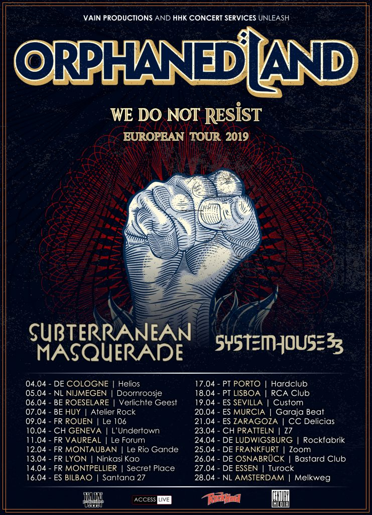 SystemHouse33 European Tour 2019 Tour Dates